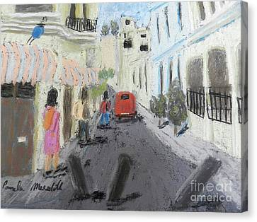 A Street In Chile Canvas Print by Pamela Meredith