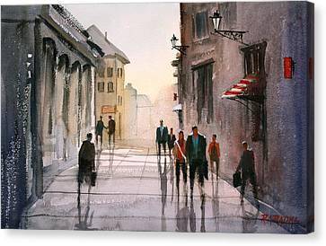A Stroll In Italy Canvas Print by Ryan Radke