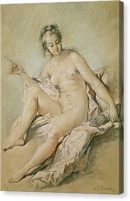 A Study Of Venus Canvas Print by Francois Boucher