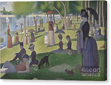A Sunday On La Grande Jatte Canvas Print by Georges Pierre Seurat