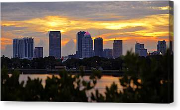 A Tampa Summer Evening Canvas Print by David Lee Thompson