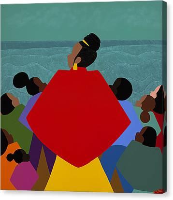 A Tribute To Xernona Clayton Canvas Print by Synthia SAINT JAMES