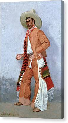 A Vaquero Canvas Print by Frederic Remington