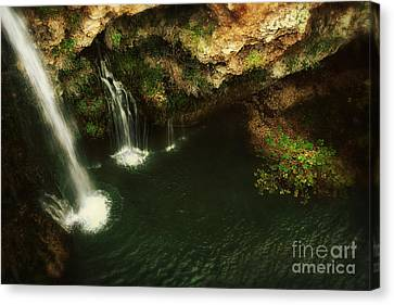 A View From Above The Falls Canvas Print by Tamyra Ayles
