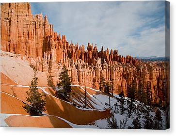 A View Of The Hoodoos And Other Eroded Canvas Print by Taylor S. Kennedy