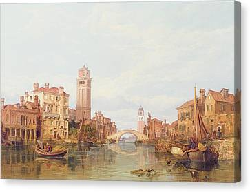 A View Of Verona Canvas Print by George Clarkson Stanfield