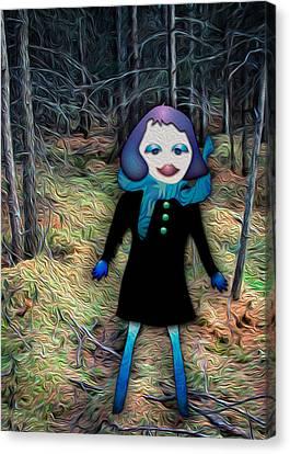 A Walk In The Woods Canvas Print by Bonnie Follett