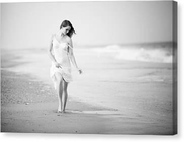 A Walk On The Beach Canvas Print by Jae