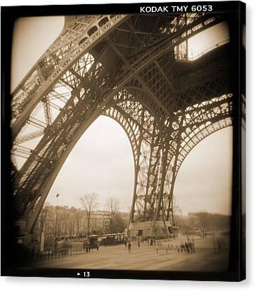 A Walk Through Paris 13 Canvas Print by Mike McGlothlen