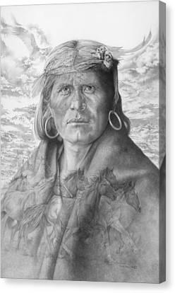 A Walpi Man - The Vanishing Culture Canvas Print by Steven Paul Carlson