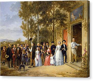 A Wedding At The Coeur Volant Canvas Print by French School