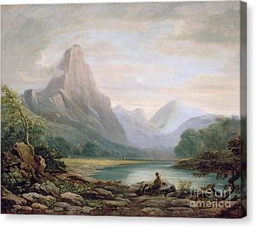A Welsh Valley Canvas Print by John Varley