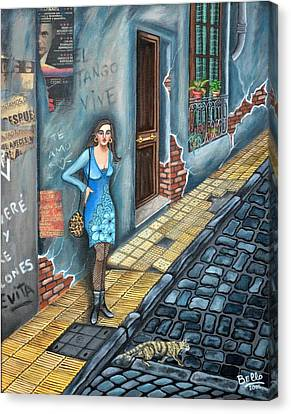 A Woman In Buenos Aires Canvas Print by Graciela Bello