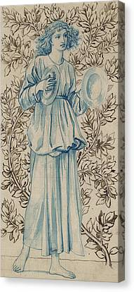 A Woman Playing Cymbals Canvas Print by William Morris
