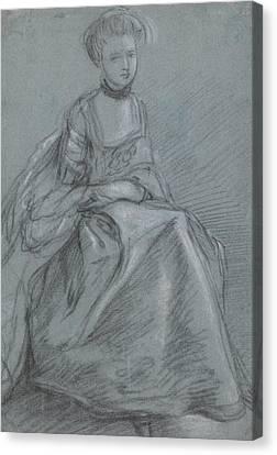 A Woman Seated  Canvas Print by Thomas Gainsborough
