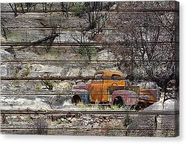 Abandoned Antique Truck Canvas Print by Phyllis Denton