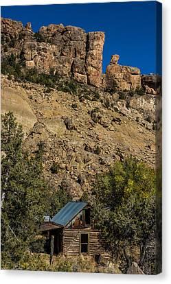 Abandoned Colorado Log Cabin Canvas Print by Paul Freidlund