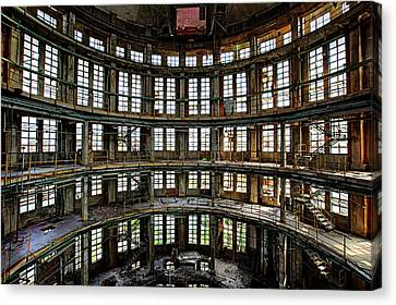 Abandoned Factory Hall - Industrial Decay Canvas Print by Dirk Ercken
