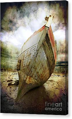 Abandoned Fishing Boat Canvas Print by Meirion Matthias