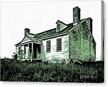 Abandoned Homestead Canvas Print by Edward Fielding