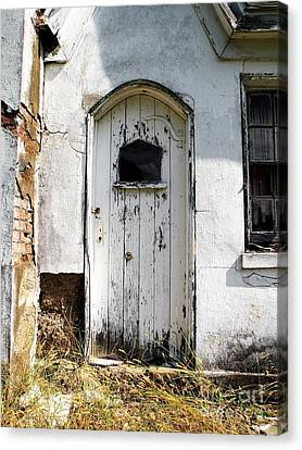 Abandoned House Door Canvas Print by Christina Stanley
