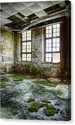Abandoned Room - Urban Decay Canvas Print by Dirk Ercken