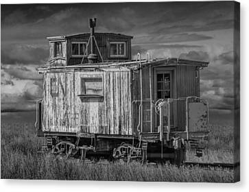 Abandoned Train Caboose Canvas Print by Randall Nyhof