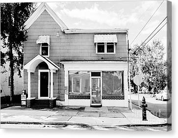 Abandonned Neighborhood Store Canvas Print by Thomas Marchessault