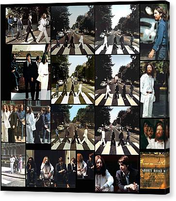 Abbey Road Photo Shoot Canvas Print by Paul Van Scott