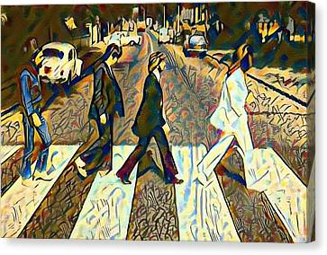 Abbey Road Watercolor Canvas Print by Bill Cannon