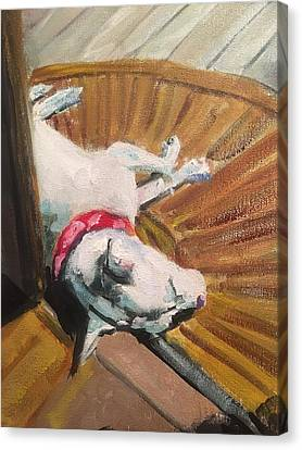 Abby In Sunshine Canvas Print by Susan E Jones