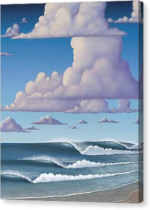 Abeautiful Day At The Beach Canvas Print by Tim Foley