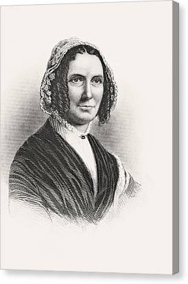Abigail Powers Fillmore 1798 To 1853 Canvas Print by Vintage Design Pics