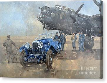 Able Mable And The Blue Lagonda  Canvas Print by Peter Miller