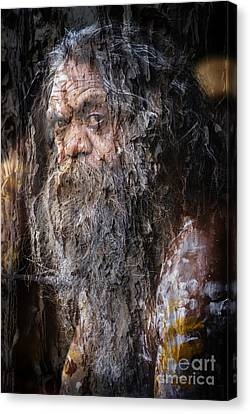 Aboriginal With Textures Canvas Print by Avalon Fine Art Photography