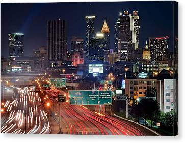 Above Atlanta Canvas Print by Frozen in Time Fine Art Photography