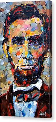 Abraham Lincoln Portrait Canvas Print by Debra Hurd