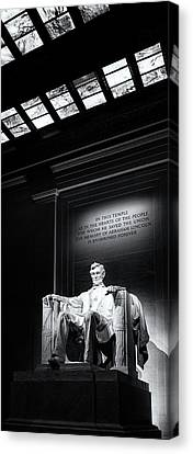 Abraham Lincoln Seated Canvas Print by Andrew Soundarajan