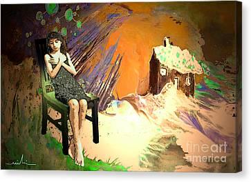 Absent Love Canvas Print by Miki De Goodaboom