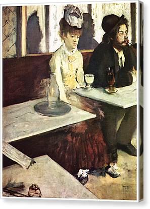 Absinthe Canvas Print by Edgar Degas