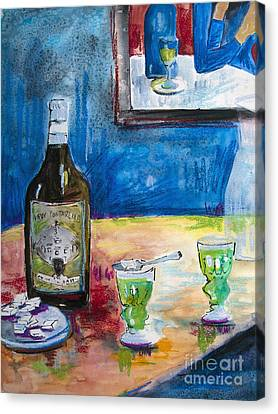 Absinthe For Two Canvas Print by Ginette Callaway
