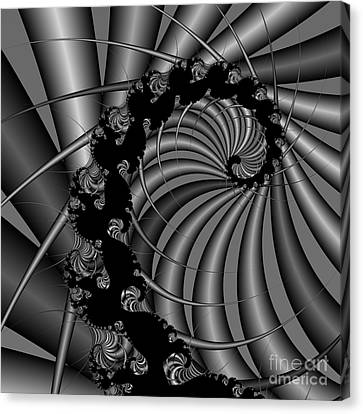 Abstract 112 Bw Canvas Print by Rolf Bertram
