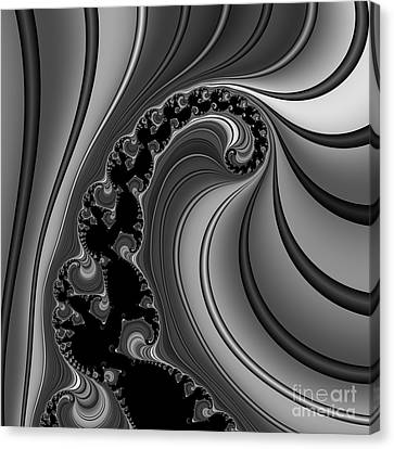 Abstract 121 Bw Canvas Print by Rolf Bertram