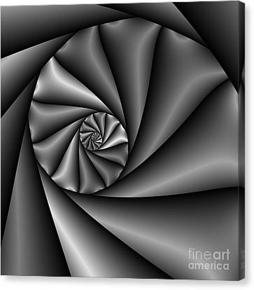Abstract 222 Bw Canvas Print by Rolf Bertram