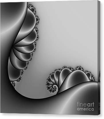 Abstract 226 Bw Canvas Print by Rolf Bertram