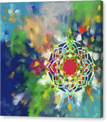 Abstract 426.1 Canvas Print by Mawra Tahreem
