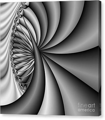 Abstract 531 Bw Canvas Print by Rolf Bertram