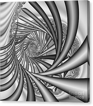Abstract 532 Bw Canvas Print by Rolf Bertram