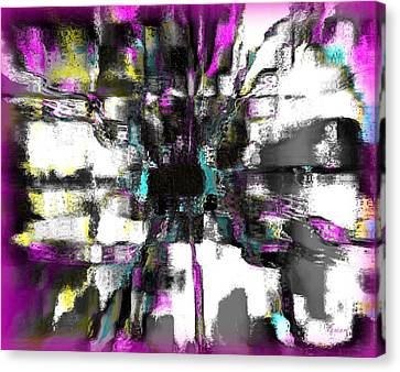 Abstract A Flower  Canvas Print by Fania Simon