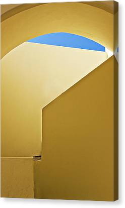 Abstract Architecture In Yellow Canvas Print by Meirion Matthias